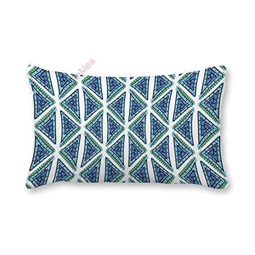 VinMea Fundas de almohada decorativas lumbar, diseño geométrico abstracto, sin costuras, 1 funda de almohada de 30 x 50 cm, para sofá, silla, asiento