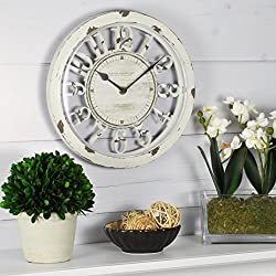 FirsTime & Co. Antique Farmhouse Contour Wall Clock
