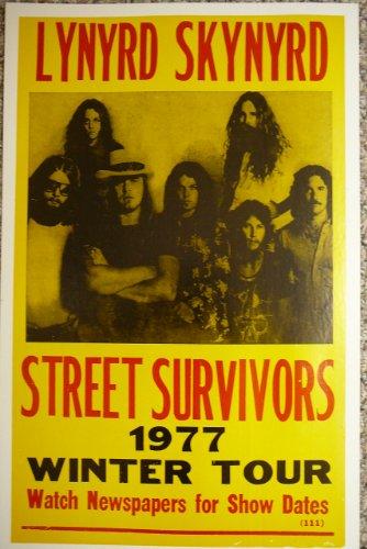 Lynyrd Skynyrd Street Survivors 1977 Winter Tour Concert Poster