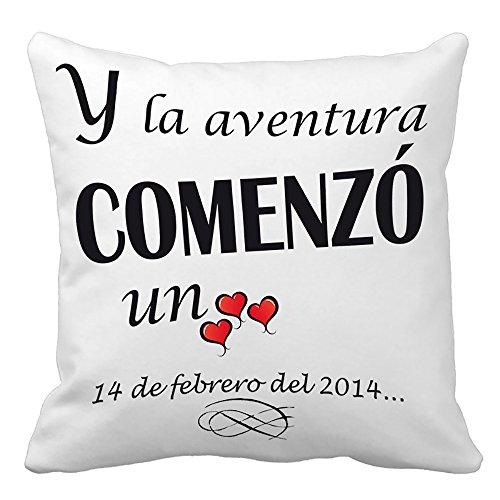 Calledelregalo Regalo para tu Pareja por San Valentín o vuestro Aniversario: cojín