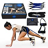 Sky Fusion VS Booty Resistance Bands with Adjustable Belt for Home Workout, Exercise Fitness with Adaptable Levels of Resistance Bands Ideal for Legs, Butt, Lower Extremities Workout, Visible Result