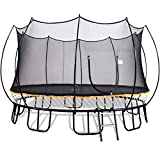 Free Jump Trampoline 15FT Round Springless Trampoline with Safety Enclosure Net - 15' Outdoor No Spring Trampoline for Kids, Teens and Adults - 15 Feet Recreational Trampoline with Ladder