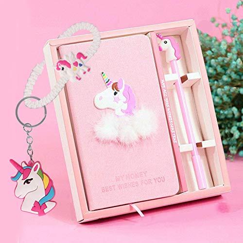 Cuaderno de unicornio con un bolígrafo de unicornio, planificador portátil de mano liso, de 18 cm x 10 cm, regalo para niños, más de 80 páginas, color Unicornio-2