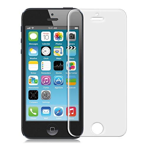 kwmobile Pellicola Protettiva in Vetro Temperato Opaca e ANTIRIFLESSO con Effetto Anti-Impronte Compatibile con Apple iPhone SE / 5 / 5S / 5C - qualità Premium