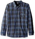 Volcom Marcos Camisa de Manga Larga, Hombre, Azul (Smokey Blue), S
