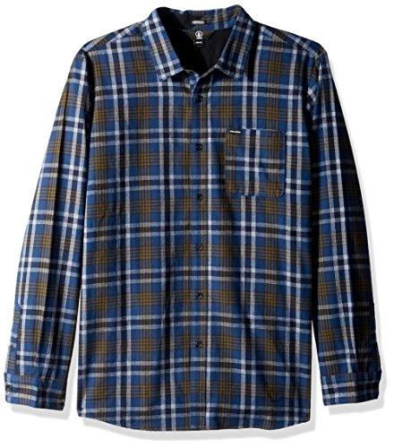Volcom Herren Marcos L/S Button-Down Hemd, SMB, Klein
