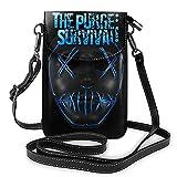 The Purge Survival - Bolso bandolera de piel para mujer, tamaño único, color negro