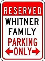 金属サインホワイトファミリー駐車場ノベルティ錫通り記号