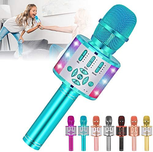 Amazmic Kids Karaoke Machine Microphone Toy Bluetooth Portable Microphone Machine Handheld with product image