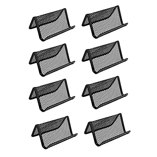 SIGNABOT Soporte de Tarjetas de Visita de Malla MetáLica Negra de 8 Piezas, Estuche de Tarjetas de CréDito, Organizadores de ColeccióN de Tarjetas de Oficina
