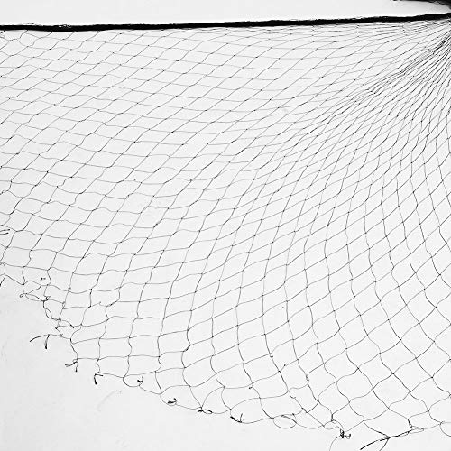 Zerodis Anti Bird Netting, 50 x 100FT Garden Net Netting for Bird Poultry Aviary Game Pens, 1.96inch Square Mesh Black