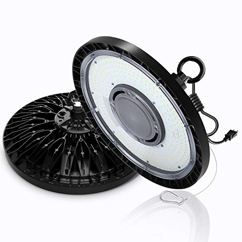 EHH UFO Led High Bay Light, 200W 28000Lm Commercial Bay Lighting, UL&DLC Certified, 5000K 1-10V Dimmable, AC100-277V, IP65 Waterproof Suitable for Warehouse Shop Factory Stadium