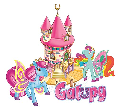 CRAZE GALUPY Wandtattoo Pferd - in verschiedenen Größen erhältlich - Made in Germany – Bowys Haus Einhorn Sammelpferde Pferde Mädchen Kinderzimmer Wandaufkleber Wandsticker (36cm x 39cm)