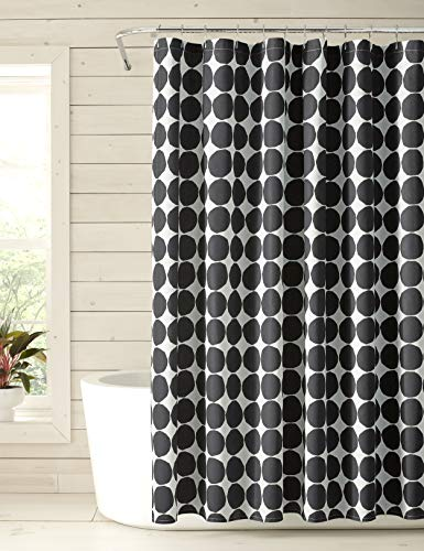 Marimekko Pienet Kivet Duschvorhang, Baumwolle, schwarz, Shower Curtain