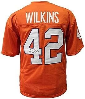 Christian Wilkins Clemson Tigers Autographed Signed Orange Custom Jersey - JSA Authentic