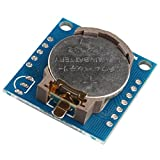 HALJIA Tiny DS1307 I2C DS1307 24C32 Module d'horloge en temps réel pour Arduino AVR PIC 51 bras