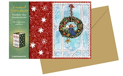 Windlicht-Mini-Adventskalender - Leuchtende Weihnachtszeit: 4 Motive x 6 Ex.