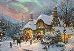 Jigsaw puzzle featuring Santa's Night before Christmas as created by world-famous artist Thomas Kinkade and made by Ceaco. 38'' x 26'' when completed; 2000 piece count puzzle; 3503-3. Features colorful Holiday imagery. Collect all styles from your fa...