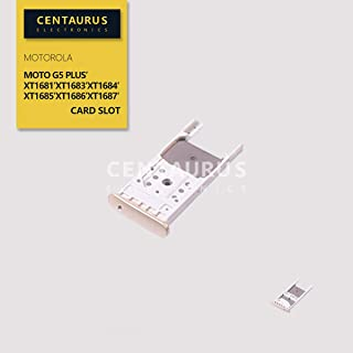 CENTAURUS Tray Replacement for Moto G5 Plus, SIM with Micro SD Card Slot Tray Holder Part Compatible with Motorola Moto G5 Plus XT1681 XT1683 XT1684 XT1685 XT1686 XT1687 (Gold)