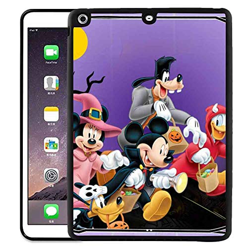 Pad Case Fit for iPad Air [2013] | iPad 5 [2013] (9.7 Inch) Halloween Mickey Mouse and Minnie Mouse Goofy Donald Duck Pluto Disney Halloween Wallpaper