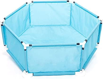 WJSW Kids Activity Centre Dual-use Baby Playpen Playground Toddler Fence  Kids Activity Area  Children s Safety Playard with Sturdy Bases  Indoor and Outdoor Play  Blue  Safety