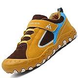 Zapatillas de Deporte para Niños Transpirables Ligeras Zapatos de Correr Niñas Antideslizante Calzado Deportivo Bajo Superior Sneakers, Amarillo 24