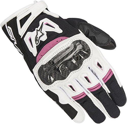 Alpinestars Women's Stella SMX-2 Air Carbon v2 Gloves (LARGE) (BLACK/WHITE/PINK)