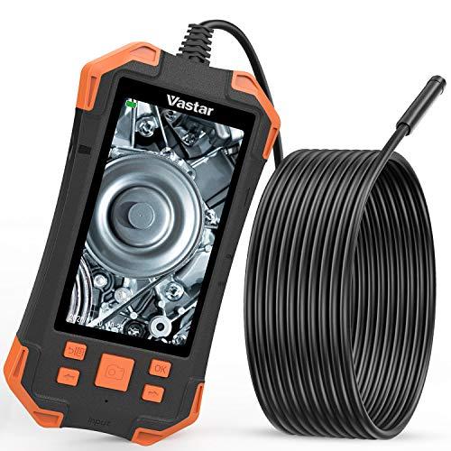 Vastar Endoscope, Camera Canalisation de Ecran LCD Couleur 4,3 Pouces IPS 1080P, 3000mAh Caméra d'Inspection Portable à Lumière Réglable de 5,5mm