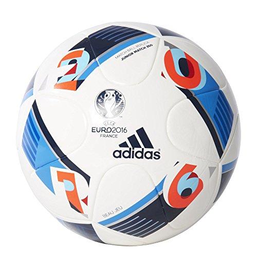 adidas Ball EURO 2016 Jugendfußball 350, Mehrfarbig (White/Bright Blue/Night Indigo), 5, AC5426