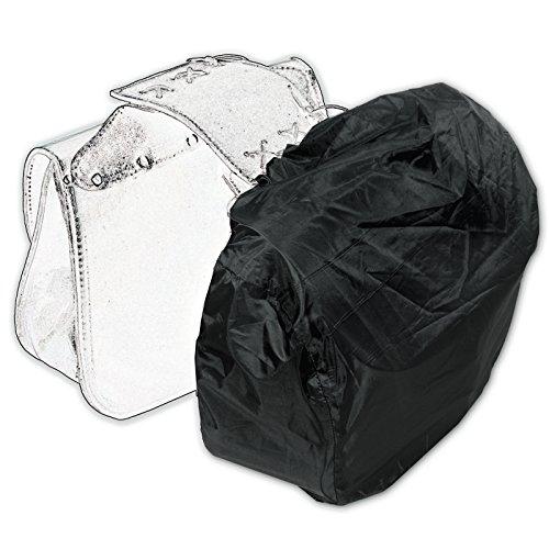 Regenschutz Wasserdicht Abdeckung Motorrad Gepäck Tasche Sonic Moto Schwarz
