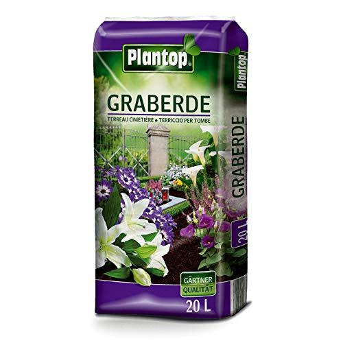 Plantop Graberde 20 Liter Blumenerde Spezialerde ohne Rußzusatz Friedhof Erde