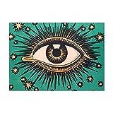RHWXAX Todos los Ojos Viendo Arte Lienzo impresión Cartel Estrellas Pared Pared Ojo Providencia Celestial decoración mística esotérico gnóstico Lienzo Pintura 24x32 Inch Sin Marco