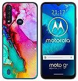 Tumundosmartphone Funda Gel TPU para Motorola Moto G8 Power Lite diseño Mármol 15 Dibujos