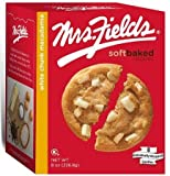 Mrs. Fields White Chunk Macadamia Cookies Soft Baked Cookies That Taste Like They Just Came Out Of The Oven 8 Individually Wrapped Cookies For Freshness Grab And Go Snack, Great For Purses, Backbacks, Children's Lunchbox Only 120 Calories Per Cookie