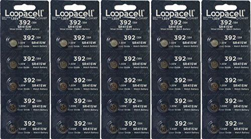 LOOPACELL 25 Genuine Fresh 392 SR41W Silver Oxide 1.55v Batteries