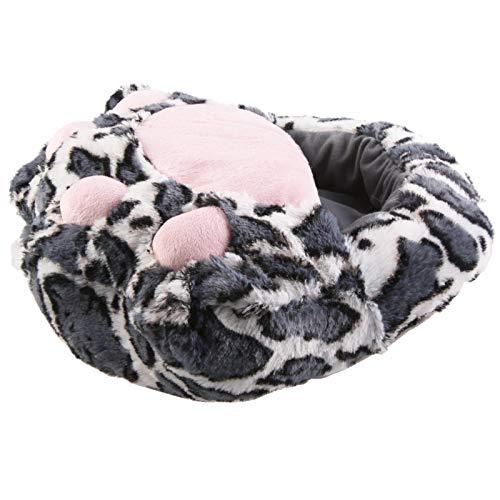 SAMs Fußwärmer Hausschuhe Katze, Grau, TH-FP