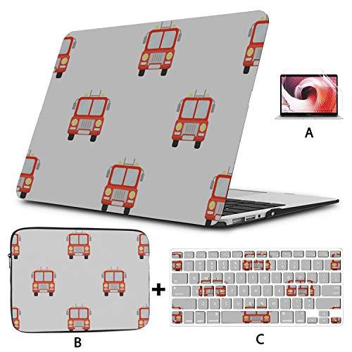 Funda para Macbook de 12 Pulgadas Animación de Dibujos Animados Fireman Hero Warrior Funda Macbook Air Hard Shell Mac Air 11'/ 13' Pro 13'/ 15' / 16'con Funda para portátil para Macbook 2008-2020