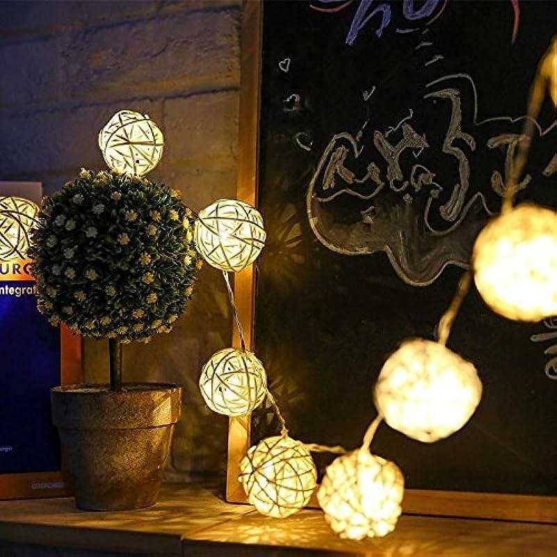見習い反応する高いイルミネーションライト ストリングライト クリスマス パーティー 結婚式 誕生日 飾りライト ボール型 電池式 電飾 室内室外 防水 電球色 LED 1.5m 電球数10