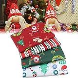 AGAWA - 4 bolsas de tela de algodón para costura navideña de algodón y costura hecha a mano.