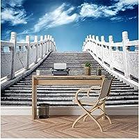 Xbwy 装飾壁画 壁紙3D立体壁の壁紙3 Dリビングルームの階段-280X200Cm