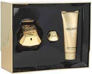 8d28e466833 Lady Million by Paco Rabanne Eau de Parfum Spray 80ml, Body Lotion 100ml &  Travel