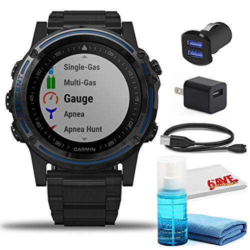 Garmin Descent Mk1 Dive Watch (Gray Sapphire/DLC Titanium) with USB Adapters