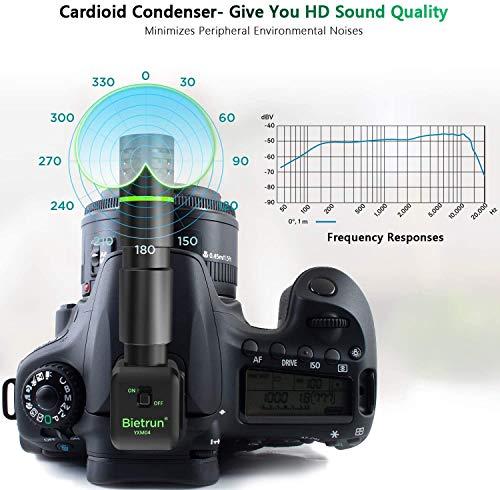 Bietrun Richtmikrofon Kamera Mikrofon inkl. Anti-Schock-Halterung Videomikrofon für Canon Nikon DSLR Kameras/Camcorder/Smartphones mit Windschutz/Handyhalter Nieren Kondensator Mikrofon zu Aufnahme