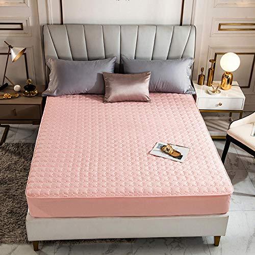 HPPSLT Protector de colchón - óptimo antiácarosSábana de Cama Color Puro de una Sola Pieza Pure Cotton-Jade_180 * 200cm