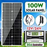 N\A 100W Solar Panel Dual USB Power Bank Board with Car Charger 30A USB Solar Panel Regulator Charger...