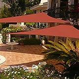 Shade&Beyond 2 Pack 12'x12'x12' Sun Shade Sail Triangle Canopy Rust Red Outdoor UV Sunshade Sail for Patio Yard Backyard Garden Lawn Garden