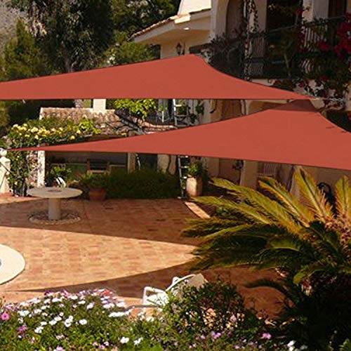 Shade&Beyond 2 Pack 12'x12'x12' Sun Shade Sail Triangle Canopy Rust Red Outdoor UV Sunshade Sail for Patio Yard Backyard Garden Lawn Garden