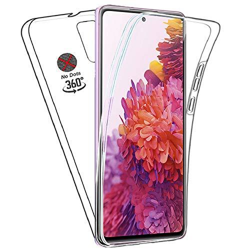 Galaxy S20 FE Hülle vorne und hinten weich | Handyhülle | 360° R&umschutz Slim | Klar | Hülle 2 in 1 | Silikon | Transparent | Bumper | TPU Silikon Gel Hülle für Samsung S20 Lite