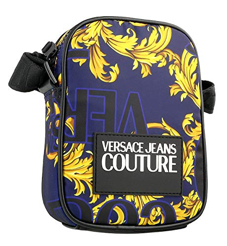 Versace Jeans Couture Accessories Baroque Print Small Cross Body Bag One Size NAVY