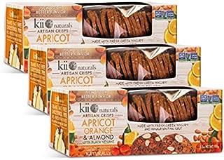 Kii Naturals Artisan Chips - Apricot Orange and Almond With Black Sesame - 3 PACK - KOSHER